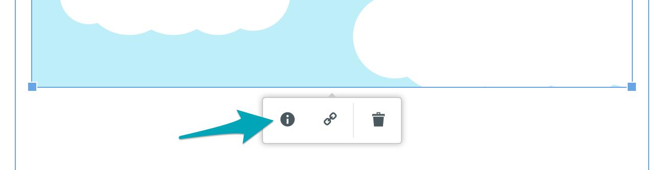 Knapp för alt-text i Kundos textredigerare